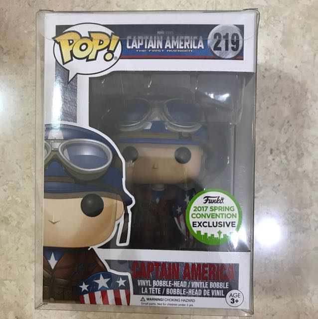 Funko Pop captain America (2017 spring convention exclusive)
