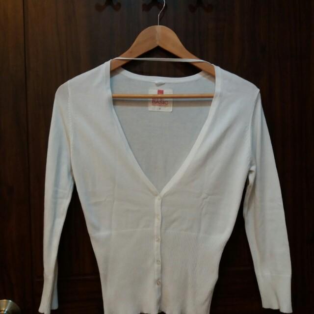 F&X white cardigan Small