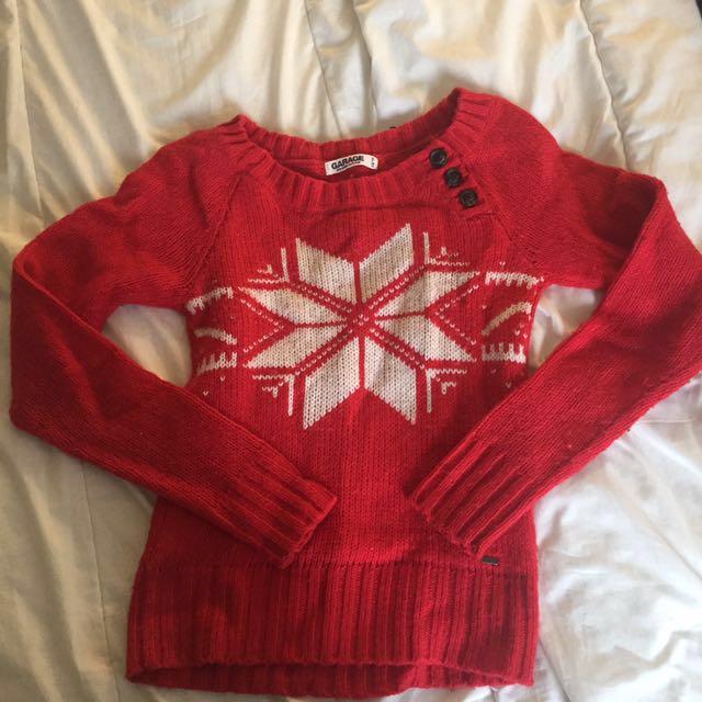 Garage Snowflake Sweater