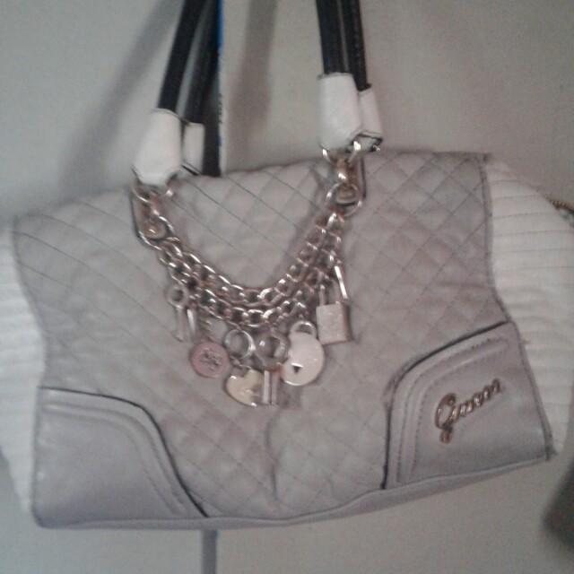 Genuine leather guess handbag