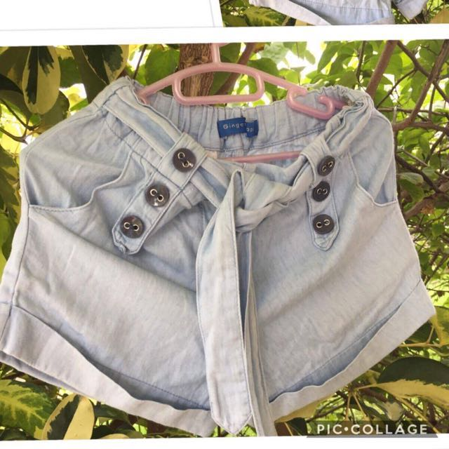 Gingersnaps denim kids shorts (4-6yo)