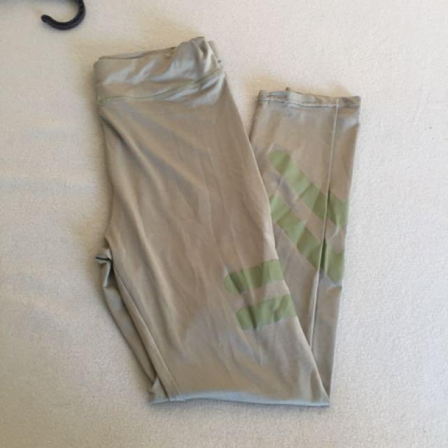 Green gym tights