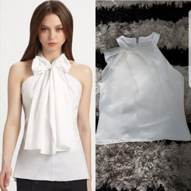 Halter Neck Top with Bow