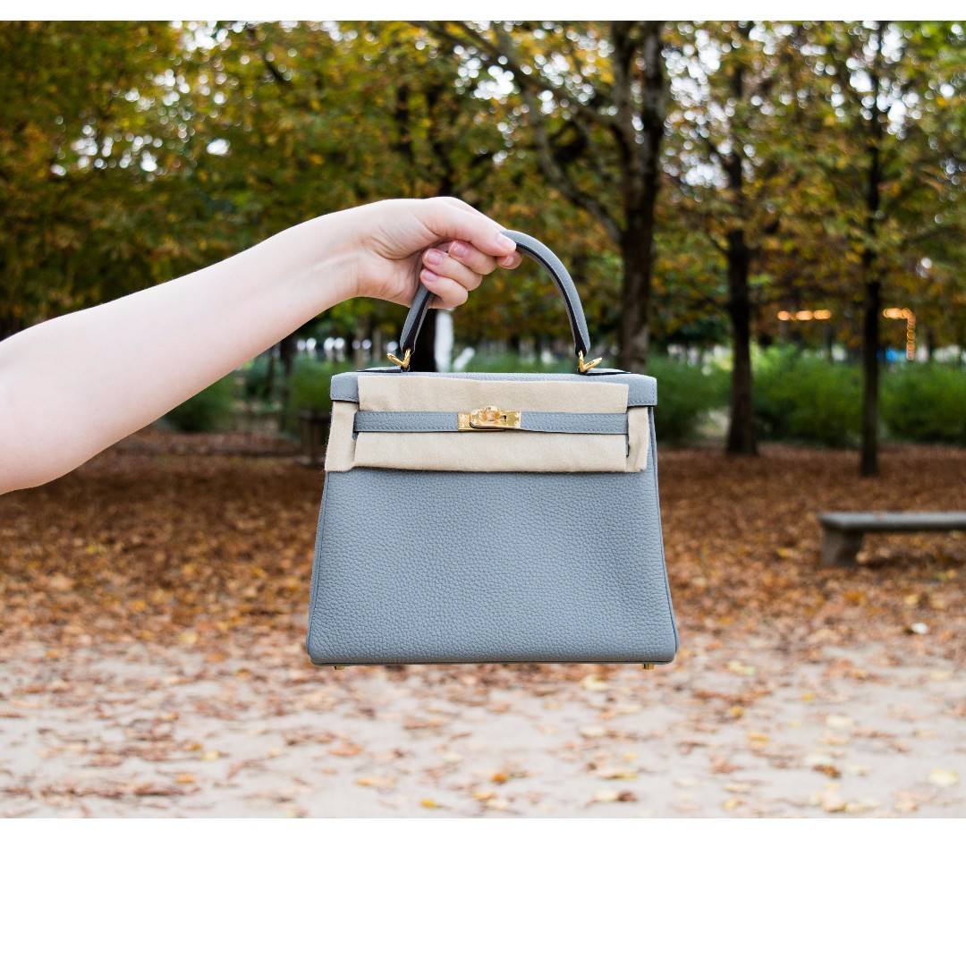 2ad529aed2e50 ... good hermes kelly 25 gris mouette togo gold hardware ghw stamp a  available for sale luxury