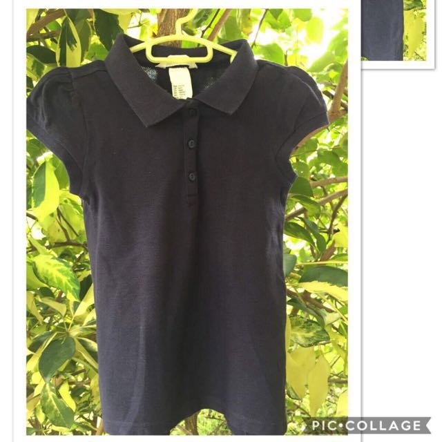 H&m black kids polo shirt (4-6yo)