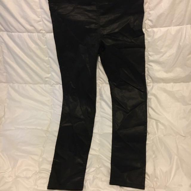 H&M Shiny Black Trousers