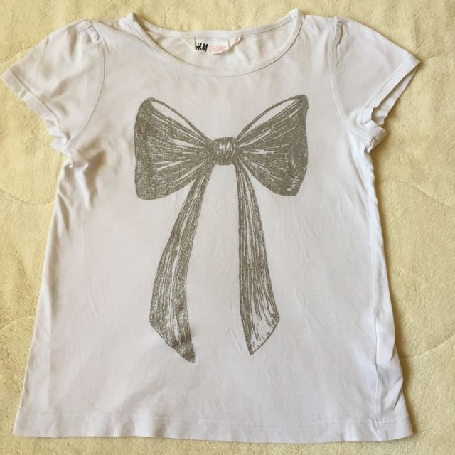 H&M white shirt for girl size 6-8y