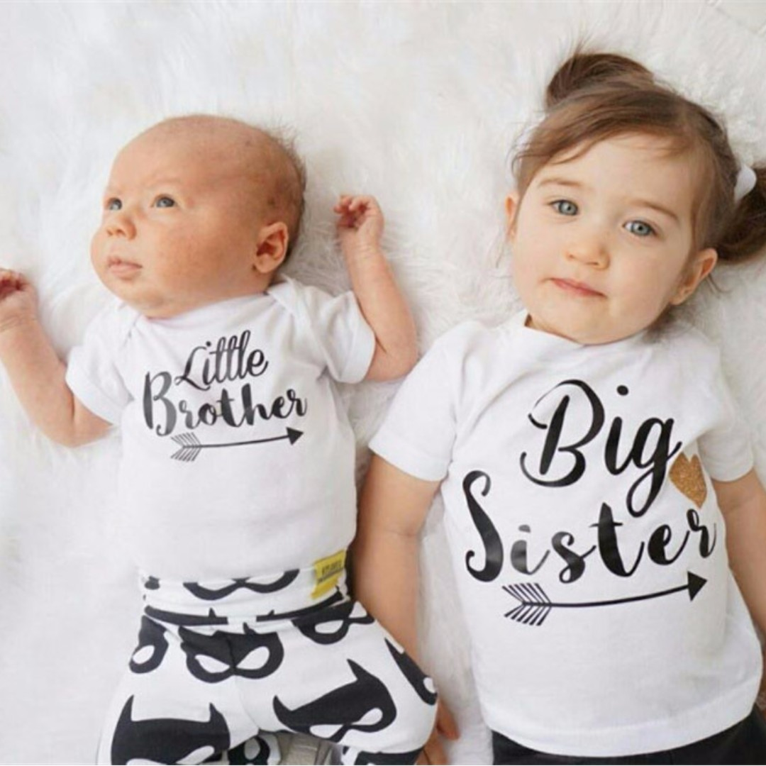 e71b01f753d3 🌟INSTOCK🌟 Siblings Twinning Tshirt Top Little Brother and Big ...