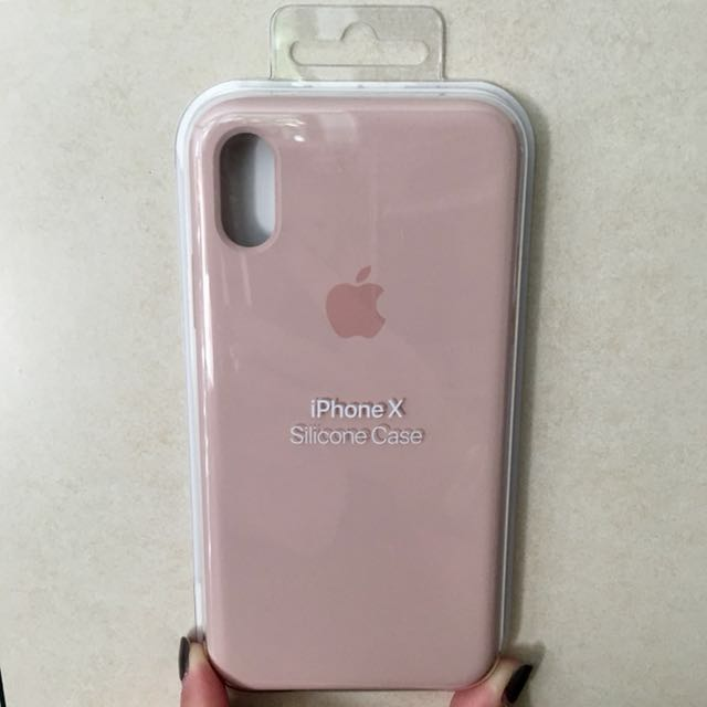 brand new cdd2e 036af iPhone X Silicon Case - Pink Sand (Authentic)