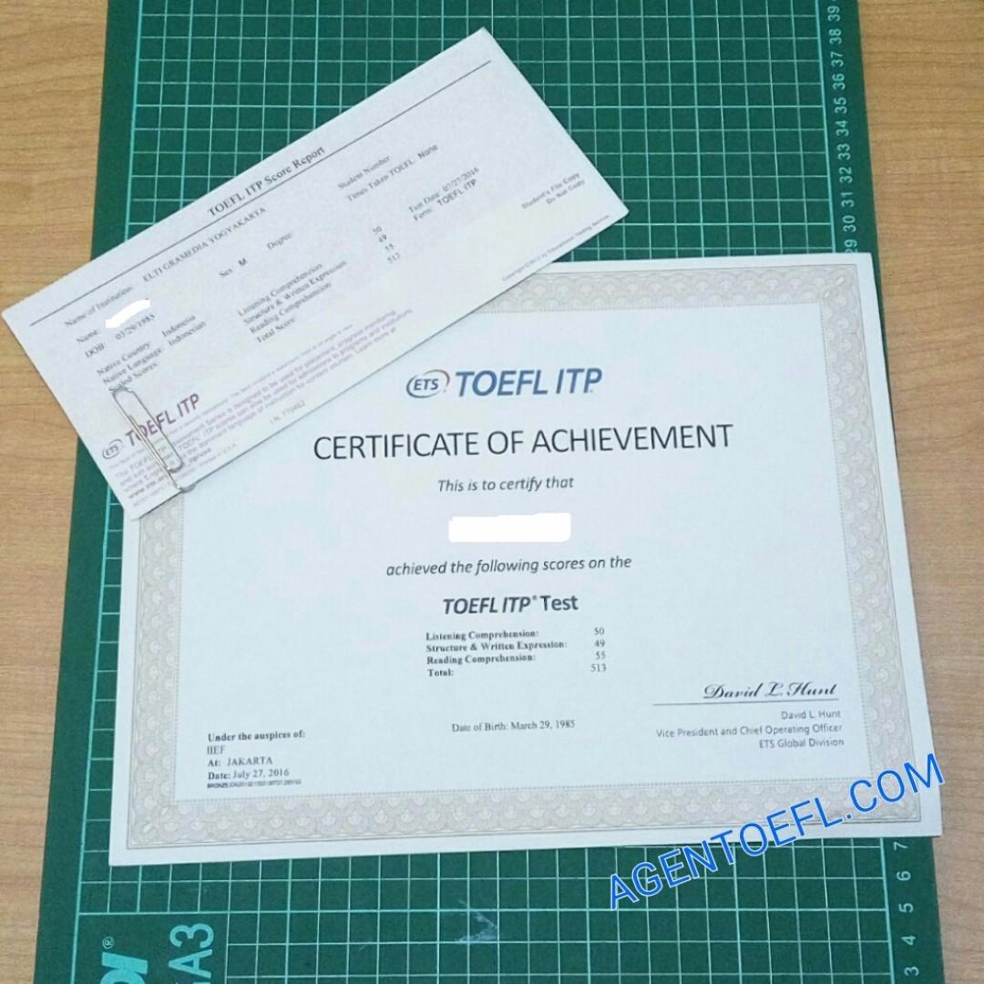 Jasa Desain Rumah: Jasa Pembuatan Sertifikat Toefl ITP, PBT, IELTS Se