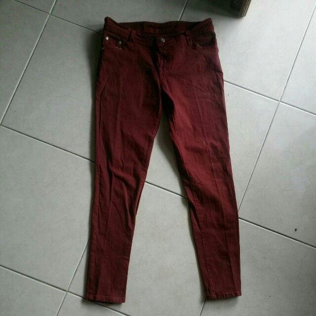 Jegging maroon (S)