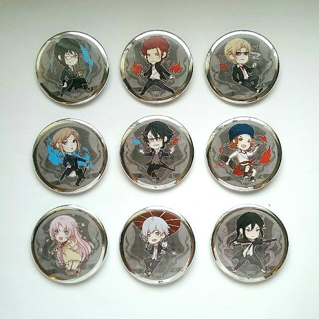 K Button Badges Set + Free Bookmarks & Charm