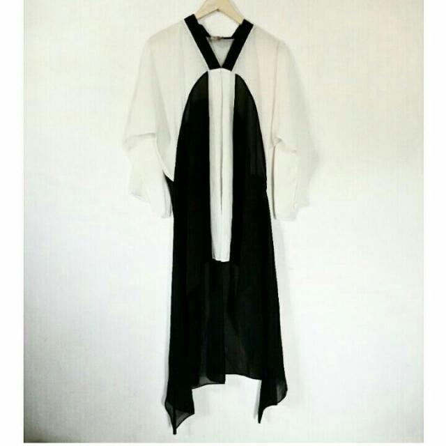 Kaftan Sifon Black & White