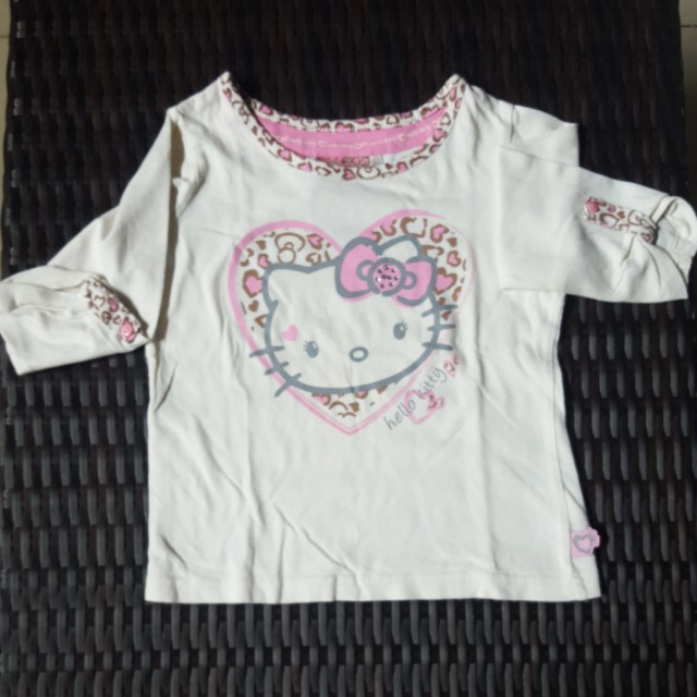 Kaos tangan panjang Hello Kitty