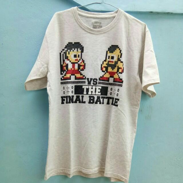 Kaos T-shirt pixel art Street Fighter - Super T