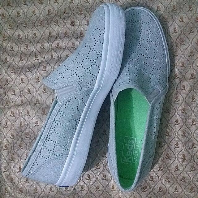 Keds | Gray Double Decker Perforated Fashion Sneakers