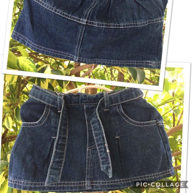 Kids denim skirt (1-3yo)