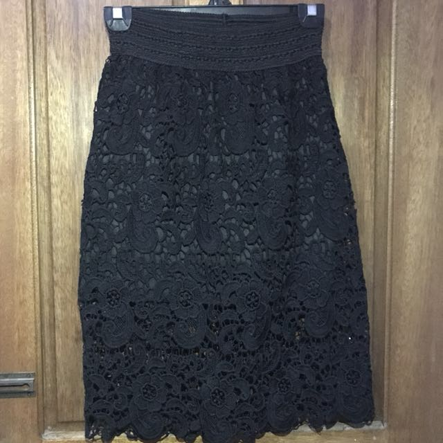 Lace Pencil Skirt Office
