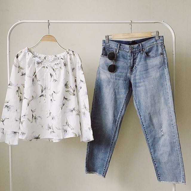 Liliy blouse white (new) #Reprice