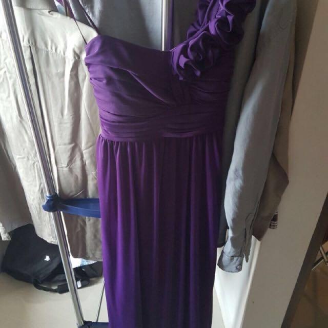 long dress purple