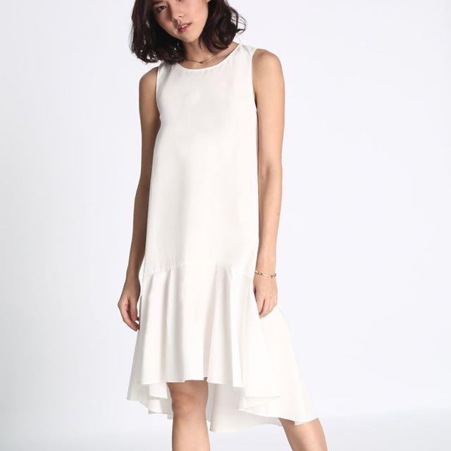 d883c0dcb97 Love Bonito Damia Flounce Dress White XS