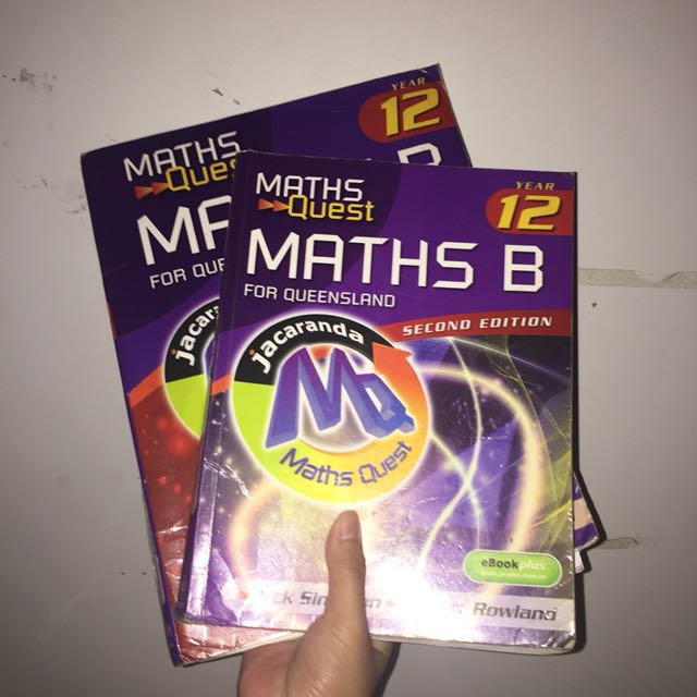MATHS B YEAR 12 TEXTBOOK + SOLUTIONS