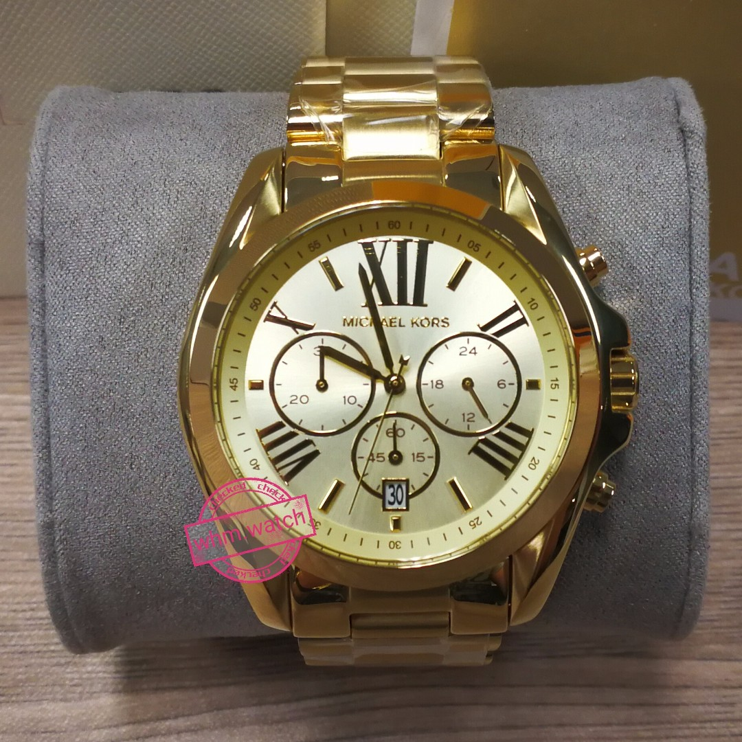 9143c22470fb MICHAEL KORS mk watch   MK5605 Bradshaw Chronograph Champagne Dial Gold-tone  Ladies Watch