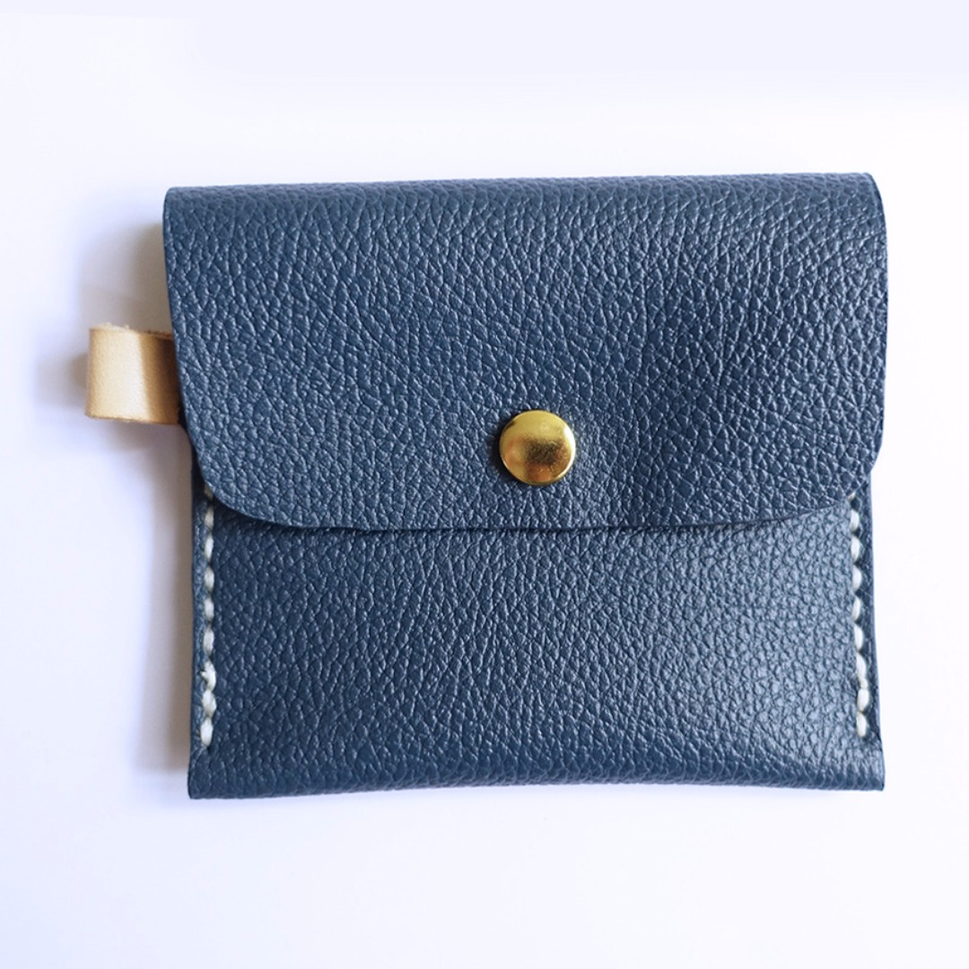 Midnight Blue Small Leather Pouch