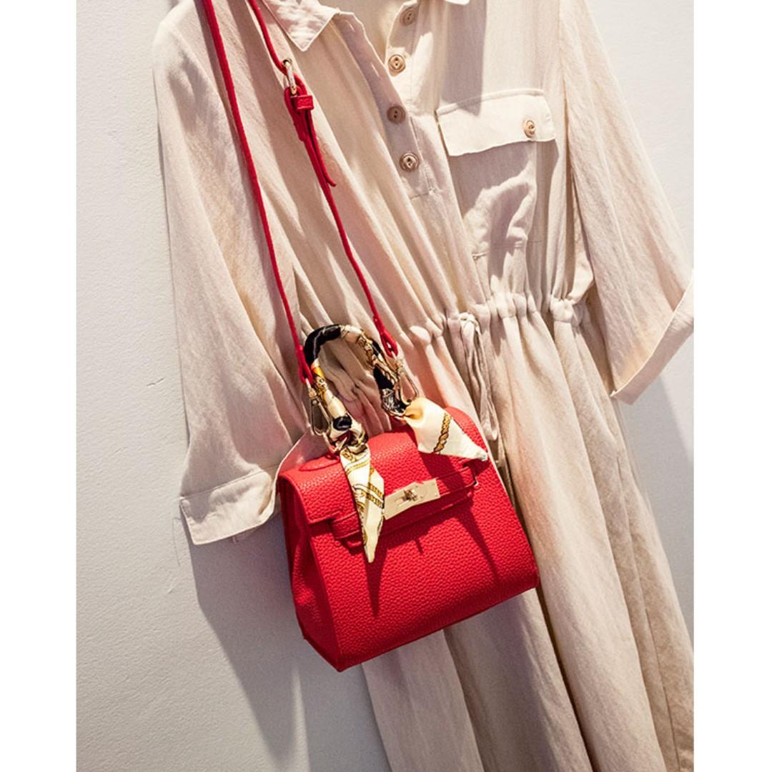 荔枝紋凱莉包mini 歐美女包-潮包迷你手提小包包