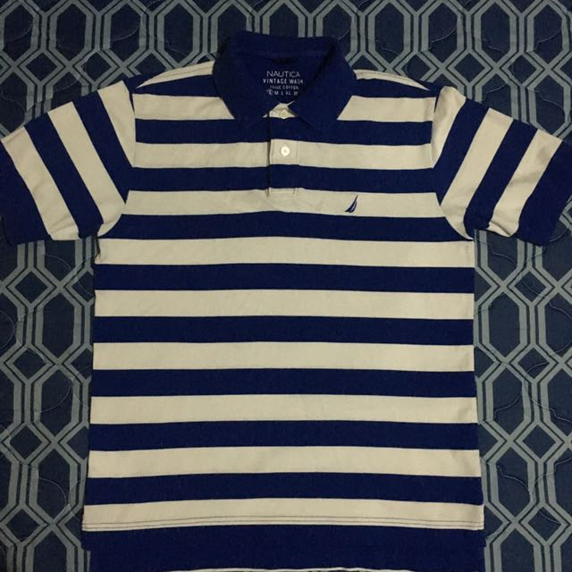 Nautica Blue Stripes Poloshirt