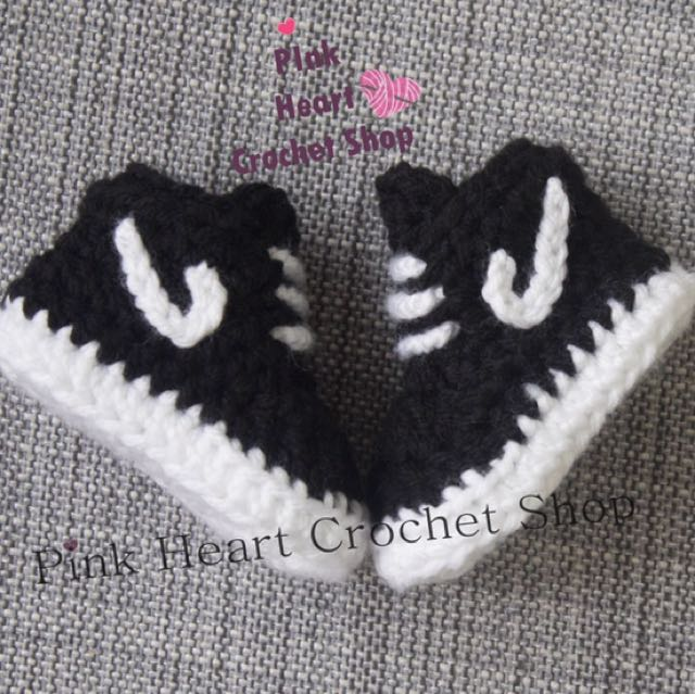 New handmade Crochet Baby Nike Shoes