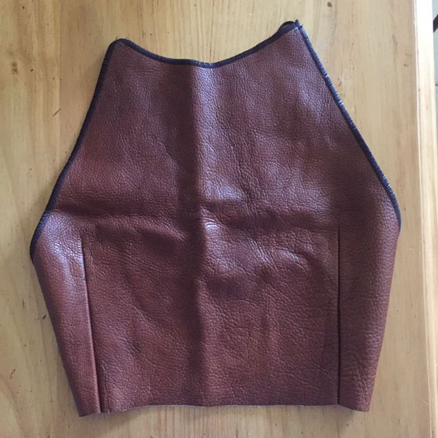 NEW vintage leather crop