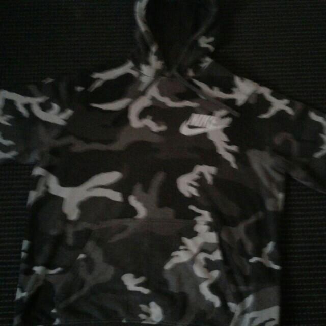 Nike camo hoodie