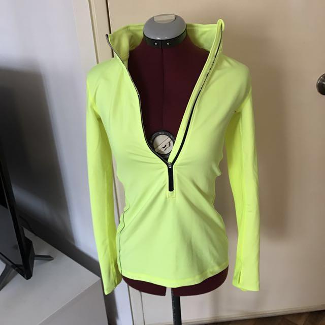 Nike Pro Neon Yellow Jacket