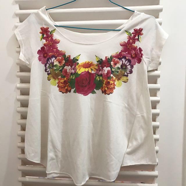 No Brand - white flower top