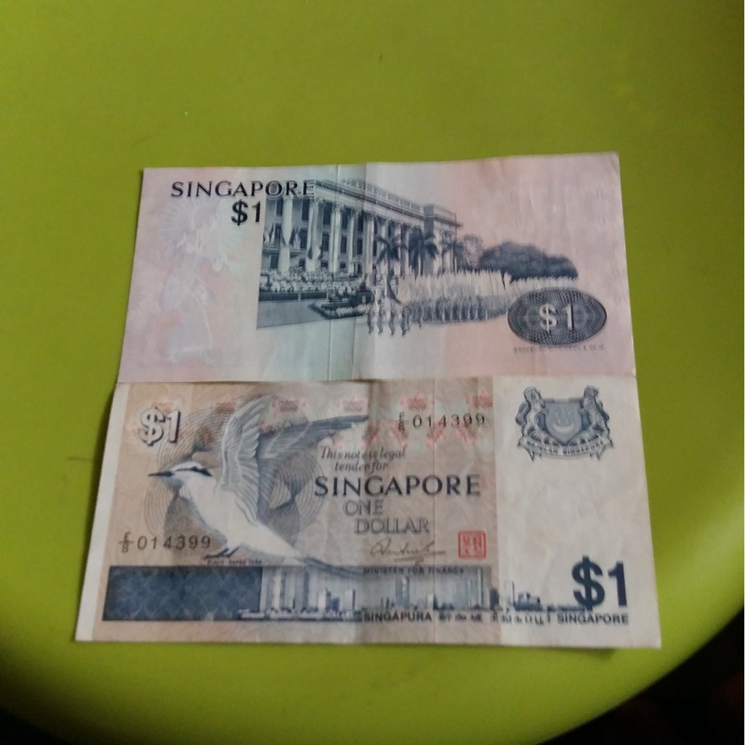 Old $1 Singapore notes, Vintage & Collectibles, Currency on Carousell