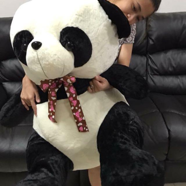 Panda with ribbon