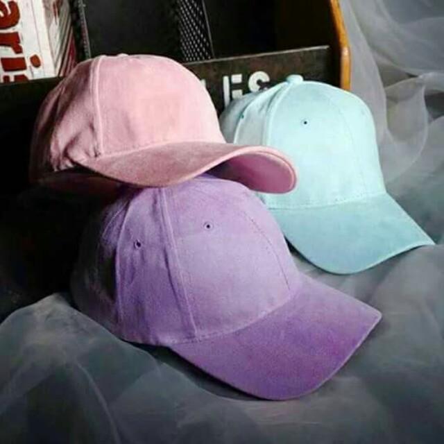 ab5415be104 Pastel Color Suede Caps