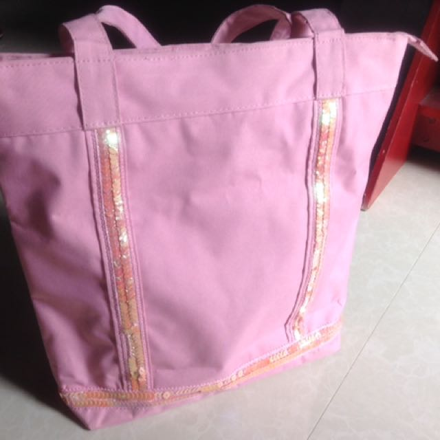 Pink bejewelled bag