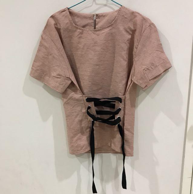 Pink corset top