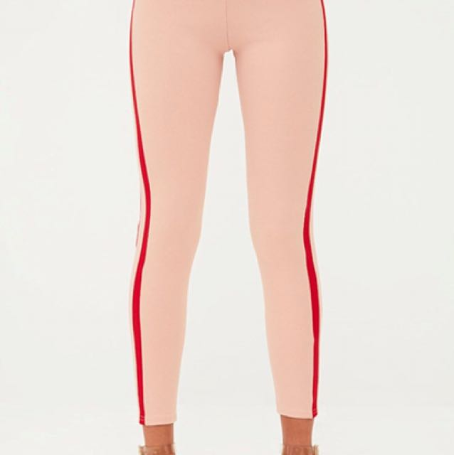 Pretty little thing Pink and red leggings