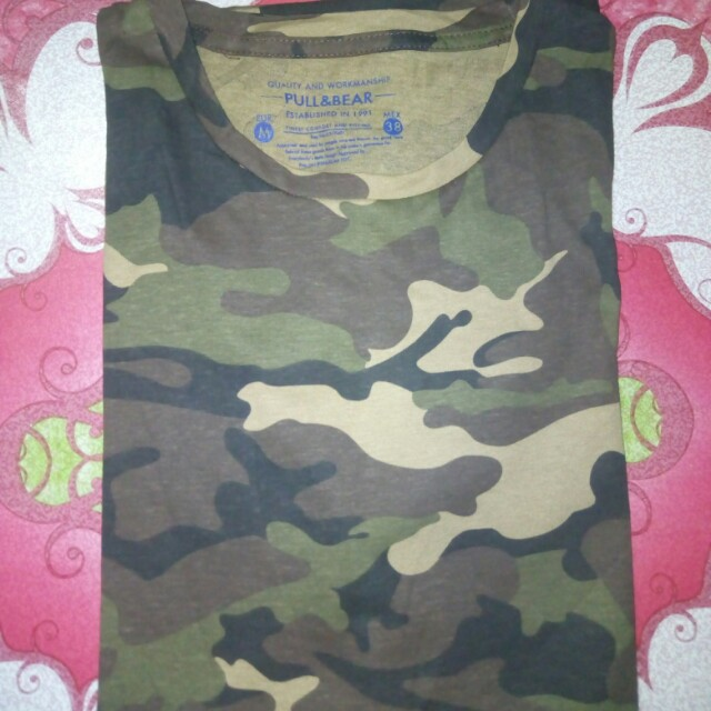Pull and Bear Muscle Tee (Camouflage)