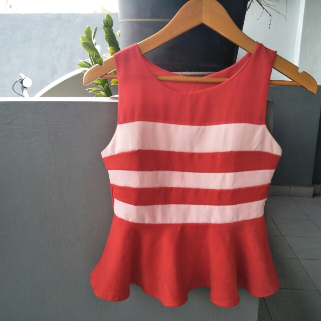 Red white top