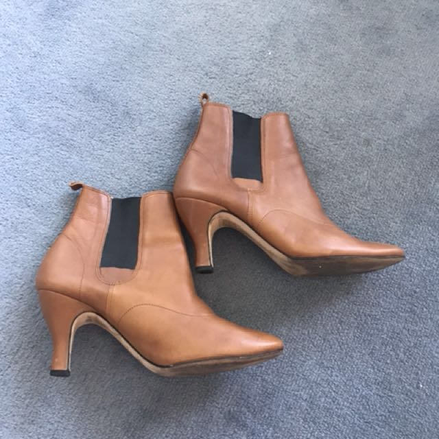 Repetto Tan Leather Boots