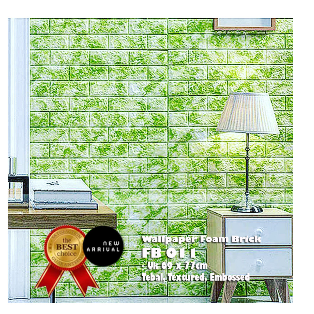 SALE !! 3D Wallpaper/EMBOSSED/TEXTURE Foam Brick - Limited TIME SALE (Green Marble)