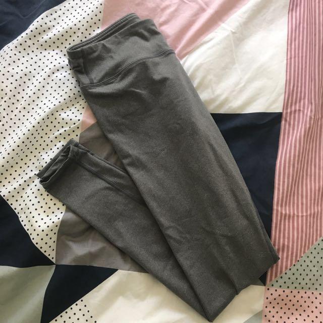Saski Collection Charcoal Mid Waist Leggings
