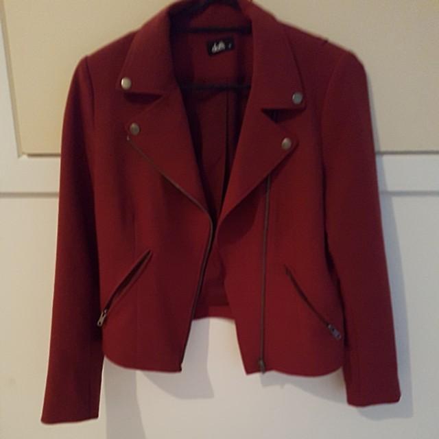 Size 10 dotti red/burgundy jacket