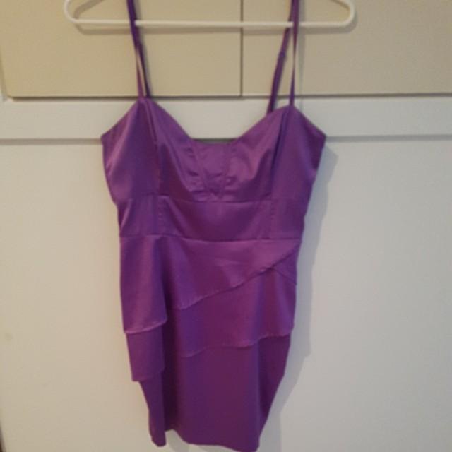 Size 10 Lollita purple silk dress