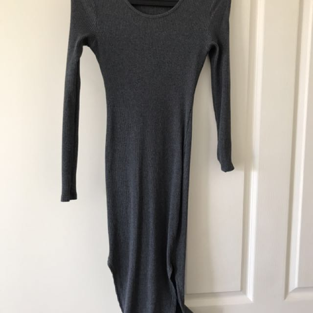 Size 10 long sleeve fitted dress with splits