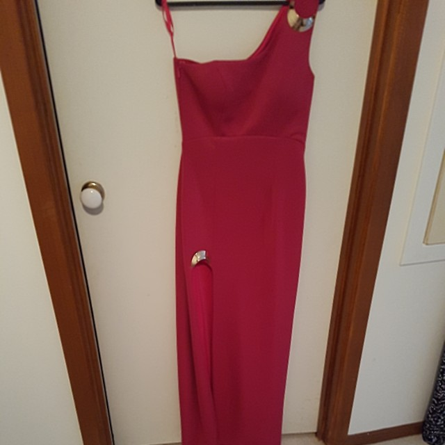 Size 12 Hot Pink Bariano dress - only worn once